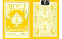 Bicycle Yellow Reverse Playing Cards. #playingcards #poker #games