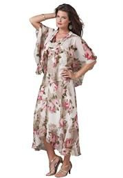 Plus Size Floral Jacket Dress image