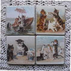 set tile, kitty cats, cat coaster, awesom cat, cat stuff, tile version