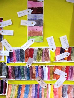 """"""" so we had fun colour mixing, and the children gave the colours names - wild - whats going on in their heads?"""" - Maureen Crosbie, Kirriemuir, Scotland."""