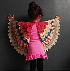 kids, sewn, wings