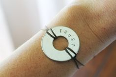 Chris Loves Julia: DIY Washer Bracelet