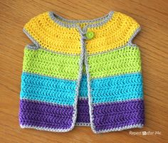 FREE Pattern by Repeat Crafter Me: Cap Sleeve Cardigan Crochet Pattern