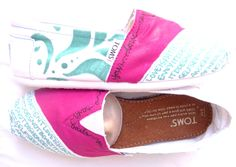 The Trixie  Fuscia and Teal Custom TOMS by FruitfulFeet on Etsy, $110.00