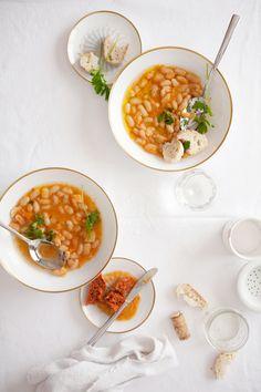 White Bean & Chorizo Soup via Cannelle et Vanille