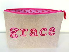 full name personalized pouch