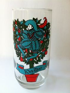Christmas Glass 10th day of Christmas by TheDearestDollhouse, $8.00