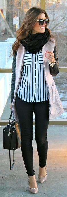 Blushing Black / Chic Street Style