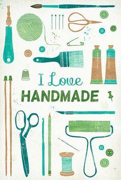 Her Library Adventures..: I Love Handmade..