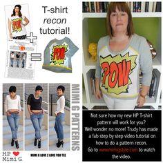 Hot Patterns Free T-Shirt Recon Video Tutorial!!!