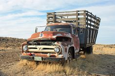 Abandoned big Ford truck