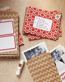 use kraft paper bags as envelopes