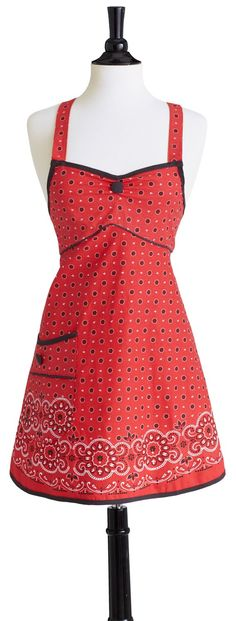 Bib Joan Red Bandana Apron • Aprons • Kitchen • Jessie Steele