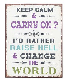 Can't help but say yes to this. :: 'Keep Calm' Wall Sign