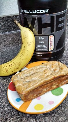 Banana Cinnamon Swirl Bread- made with Cellucor Cinnamon Swirl Protein and just 2 other ingredients!