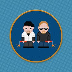 Mythbusters Characters Cross Stitch PDF by pixelpowerdesign, $4.00