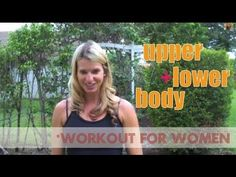 Upper & Lower Body Fat Loss Workout For Women.  Awesome #workout and its quick.