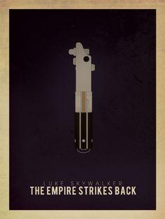Star Wars: Lightsabers - Luke Skywalker, The Empire Strikes Back by Brian Vu, via Behance.net