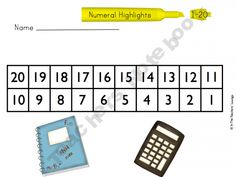 Number highlights: differentiated center (base ten, numerals, and number words)