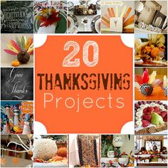 20 Thanksgiving Projects to Make!