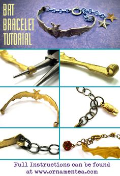 how to make a bat bracelet, a great gift for a chiroptophile!
