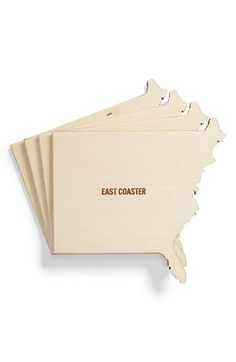 East Coaster   set of wood east coast coasters   also have west coast