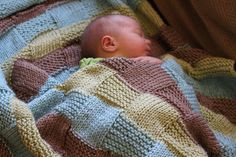 stripe the squares baby blanket knitting pattern
