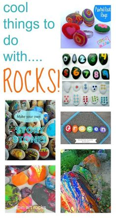 Rock crafts and games for kids