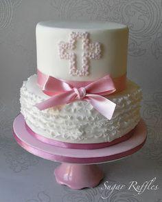Sugar Ruffles, Elegant Wedding Cakes: Christening Cake