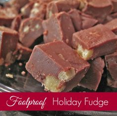foolproof holiday fudge from debmctiernan.com #lillynoble # ...