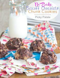 No Bake Biscoff Chocolate Chunk Cookies