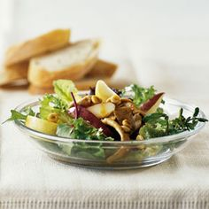 Sauteed Pork and Pear Salad with a Splash of Pineapple