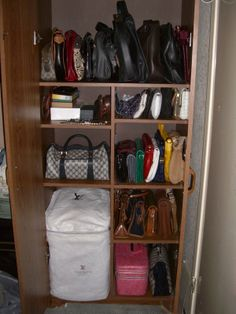 """Purse Closet from """"Control the Clutter: Shoes and Purses"""""""