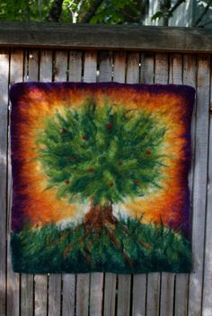 Felted tree tapestry...beautiful.