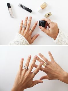 Glittery half-moon mani using a basic nude pink and then a gold glitter polish at the base of your nails. How-to: http://www.ehow.com/ehow-style/blog/3-festive-nail-styles-to-try-this-holiday-season/?utm_source=pinterest&utm_medium=fanpage&utm_content=blog