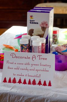 Easy party activity - frost ice cream cones instead of gingerbread houses