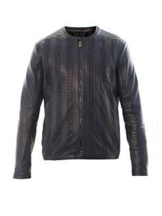 Nappa leather biker jacket | Fendi | MATCHESFASHION