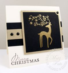 Stampin up dasher merry christmas card--I knew I should have bought that stamp!