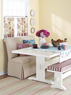 dining rooms, wall colors, bench, breakfast nooks, kitchen tables