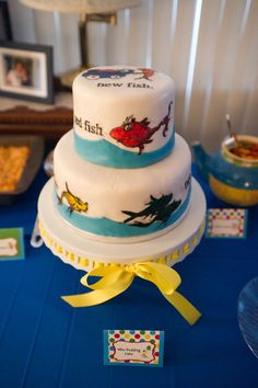Our Beautiful Life: Becky's Detailed Dr. Seuss Themed Baby Shower: One fish, two fish, red fish, new fish.