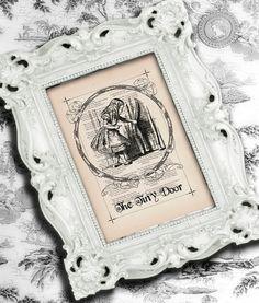 Alice in Wonderland Vintage Art - Nursery Decor for a little girl.