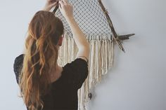 DIY Giant Triangle Driftwood Crystal Dreamcatcher | Free People Blog #freepeople dream catchers, sea dream, crystal, triangl
