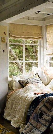 Cozy  corner dream bed lighting