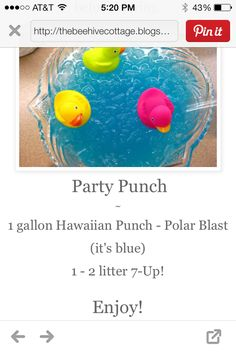 Blue punch recipe
