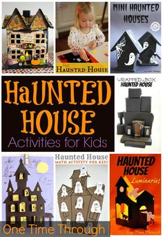 20  HAUNTED HOUSE Activities for Kids - including CRAFTS, PLAY ideas, INDOOR haunted house ideas, LEARNING games, and PRINTABLES! {One Time Through} #hauntedhouse #Halloween