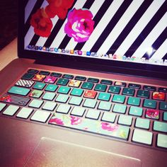 Mac Extended Keyboard Stickers Love Roses Ombre Mix by kidecals, $18.00