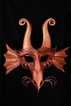 Dragon Leather Mask by CuriousAlchemy on Etsy. This is awesome.