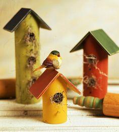 Rolling Pin Birdhouses/pvc pipe