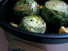 Artichokes in the Slow Cooker