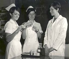 Back in the old days of nursing we dressed like this!